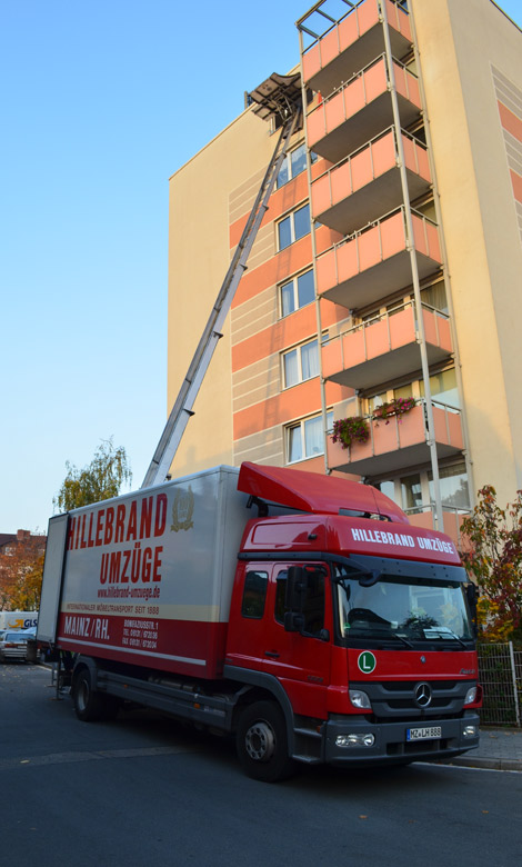 Außenaufzug für Umzüge Mainz